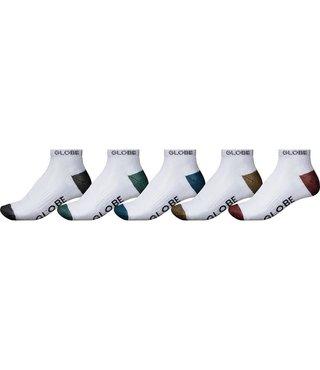 Globe Ingles Ankle Sock 5 Pack - White