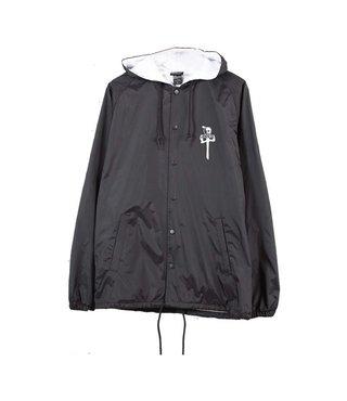 RDS x Skull Skates Coaches Jacket - Black/White