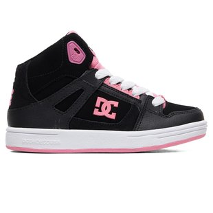 DC Kid's Pure Hi High-Top Shoes - Black/Pink