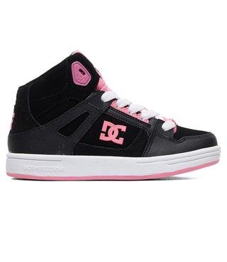 DC Kid's Pure Hi High-Top Shoes - Black/Pink