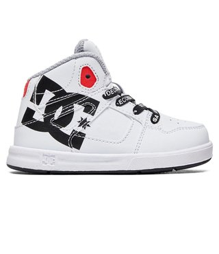 DC Toddler's Pure SE - High-Top Shoes - White/Black Print