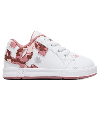 DC Toddler's Court Graffik Elastic SE Shoes - White/Camo