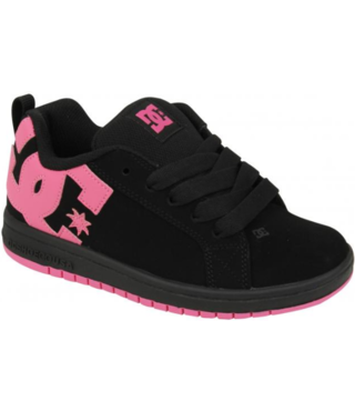 DC Kid's Court Graffik Shoe - Black/Pink