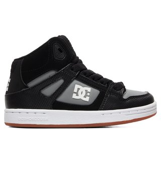 DC Kid's Pure High-Top Shoes - Black/Grey