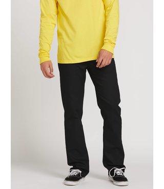 Volcom Solver Modern Fit Jeans - Black On Black