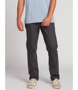 Volcom Solver 5 Pocket Slub Modern Fit Jeans - Asphalt Black