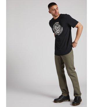 Volcom Solver 5 Pocket Slub Modern Fit Jeans - Army