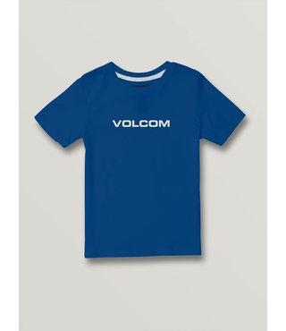 Volcom Little Boys Crisp Euro Short Sleeve Tee - Royal