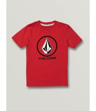Volcom Little Boys Crisp Stone Short Sleeve Tee - Red