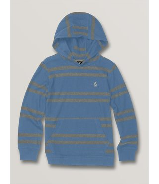 Volcom Little Boys Tehas Long Sleeve Hooded - Blue Rinse