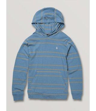 Volcom Big Boys Tehas Long Sleeve Hooded - Blue Rinse