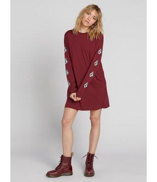 Volcom What A Trip Dress - Zinfandel