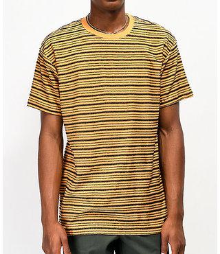 RVCA Amenity Yellow & Black Striped T-Shirt
