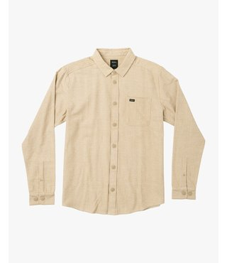 RVCA Black Sand Flannel - Dust Yellow