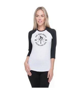 RDS Women's 3/4 Sleeve Banger Lumber Chung - White/Black