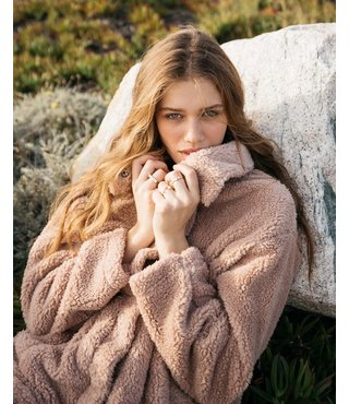 Billabong Cozy Days Sherpa Jacket - Warm Sand