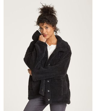 Billabong Cozy Days Sherpa Jacket - Black