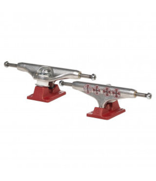 Independent Stage 11 144 Hollow Lopez Crosses Skateboard Trucks Silver/Burgundy