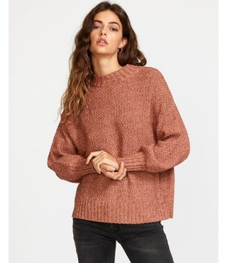 RVCA Volt Knit Mock Neck Sweater - Nutmeg