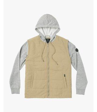 RVCA Logan Puffer Jacket - Wood