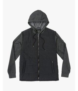 RVCA Logan Puffer Jacket - Black/Grey
