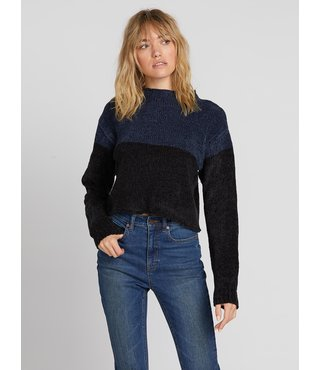 Volcom Madame Shady Sweater - Sea Navy