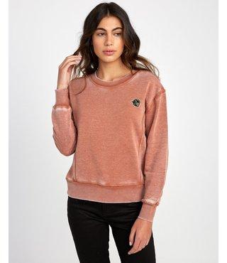 RVCA Grisancich Prowl Pullover Sweatshirt - Burnt Orange