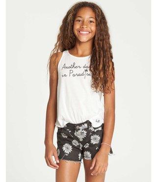 Billabong Girls' Buttoned Up Denim Short - Black