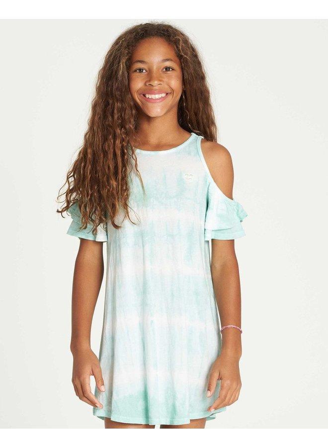 Billabong Girls' Chasing Waves Tie-Dye Dress - Beach Glass