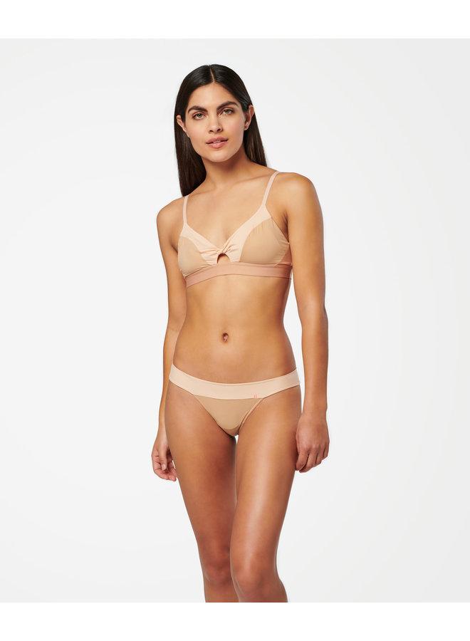Wide Side Thong Nylon - Natural