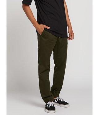 Volcom Frickin Slim Jogger Pants - Dark Green
