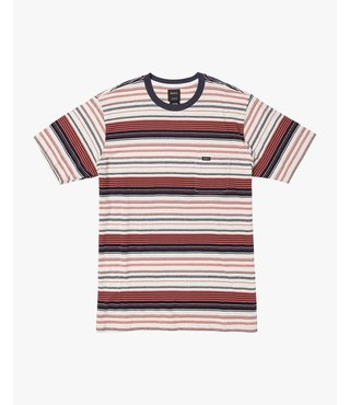 RVCA Deadbeat Stripe Knit T-Shirt - Baked Apple