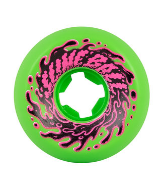 56mm Double Take Vomit Mini Neon Green Black 97a Slime Balls Skateboard Wheels