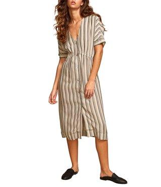 RVCA Smith Stripe Midi Dress - Oatmeal