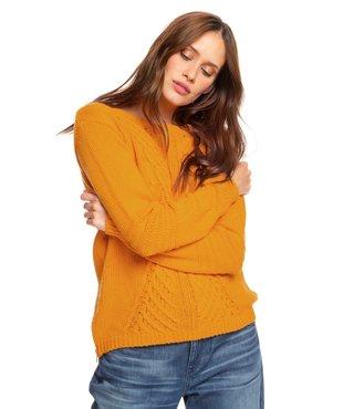 Roxy Glimpse Of Romance Sweater - Golden Glow