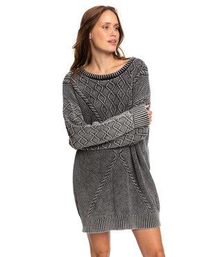 Roxy Snow Day Sweater Dress - Anthracite