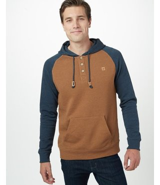 Ten Tree Men's Oberon Hoodie - Brown/Ocean