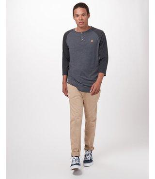 Ten Tree Men's Standard 3.25 Long Sleeve - Black/Grey