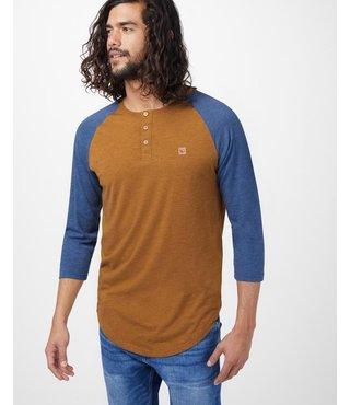 Ten Tree Men's Standard 3.25 Long Sleeve - Brown/Ocean