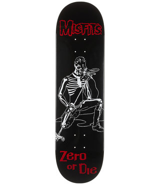 Zero x Misfits Brutality 8.375 Black Skateboard Deck