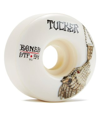 Bones STF Tucker Wolf Chain V1 54mm White Skateboard Wheels