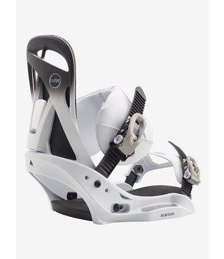 Women's Burton Scribe EST Snowboard Binding - Fade to White