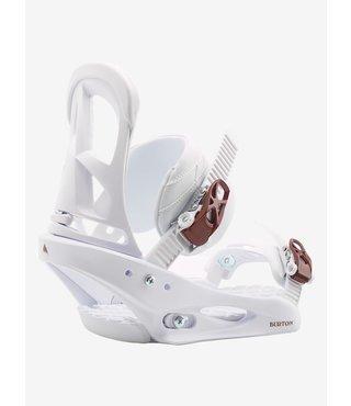 Women's Burton Stiletto Re:Flex Snowboard Binding - White