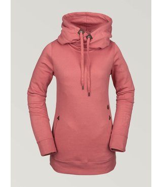 Volcom Women's Tower Pullover Fleece - Mauve