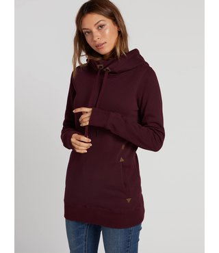 Volcom Women's Tower Pullover Fleece - Merlot