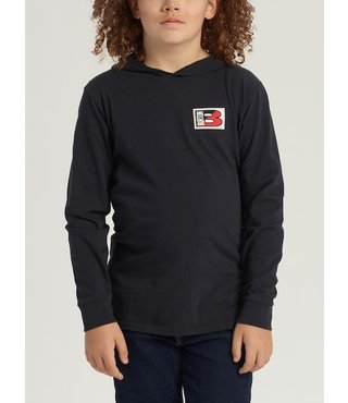 Boys' Burton Ripton Hooded Long Sleeve T-Shirt - True Blk