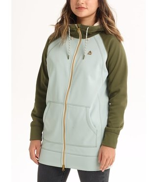 Women's Burton Crown Bonded Long Full-Zip Hoodie - Aqua Gray/Keef