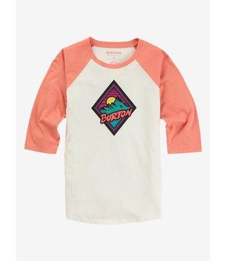 Girls' Ivorie Raglan T-Shirt - Stout White/Crabapple