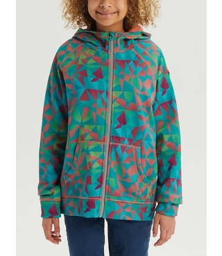 Girls' Burton Crown Bonded Full-Zip Hoodie - Grn/Blue Morse Geo
