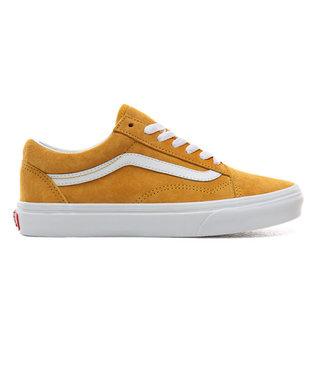 Vans Pig Suede Old Skool Shoes - Mango/Tru Wht